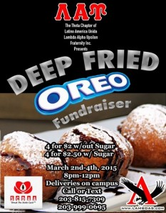Our Annual Fried Oreos are perfect before Mid Terms. Get'em while they're hot!